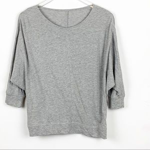 Halogen Gray Dolman Sleeve Top